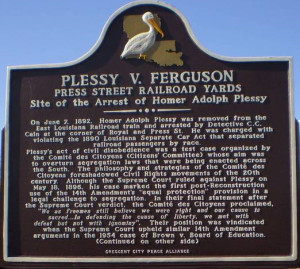"""Plessy marker"" by Skywriter - Own work. Licensed under CC BY-SA 3.0 via Wikimedia Commons - https://commons.wikimedia.org/wiki/File:Plessy_marker.jpg#/media/File:Plessy_marker.jpg"