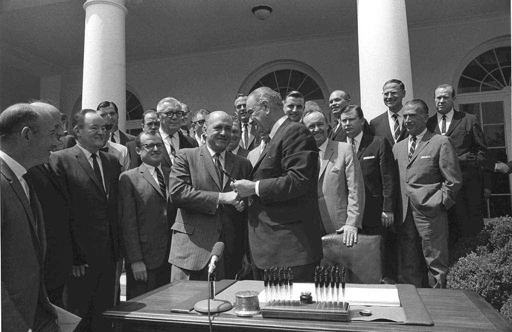 Signing of the Housing and Urban Development Act