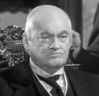 """Lionel Barrymore as Mr. Potter in """"It's A Wonderful Life"""""""